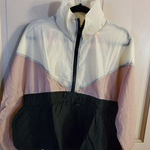 NWT Main Strip jacket. Medium. Pink and white.